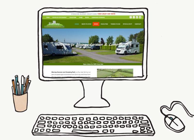 Blarney Caravan Park Website